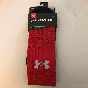 NWT UA Unrivaled Crew Socks Men Socks Medium